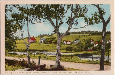 , Village of New Glasgow, Prince Edward Island, Canada. N.F.B. Photo. (1580), PEI Postcards