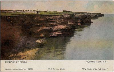 , Terrace of Rocks, Kildare Cape, P.E.I. (1584), PEI Postcards