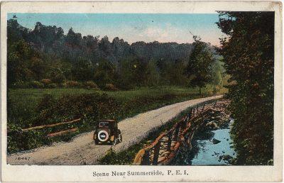 , Scene Near Summerside, P.E.I. (1596), PEI Postcards