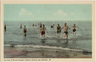 , On One of Prince Edward Island's famous sea beaches. (1599), PEI Postcards