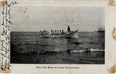 , The Life Boat at Cape Tormentine (1601), PEI Postcards