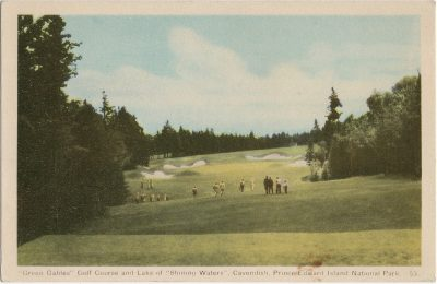 """, """"Green Gables"""" Golf Course and Lake of """"Shining Waters"""", Cavendish, Prince Edward Island National     Park. (1605), PEI Postcards"""