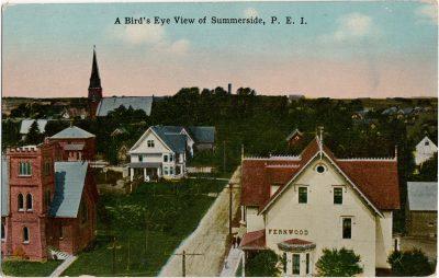 , A Bird's Eye View of Summerside, P.E.I. (1592), PEI Postcards