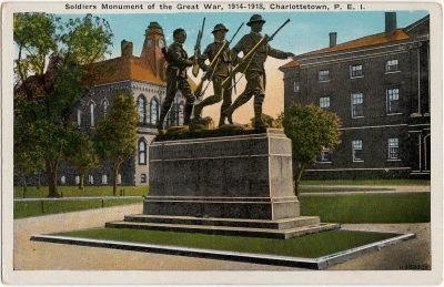 , Soldiers Monument of the Great War, 1914-1918, Charlottetown, P.E.I. (1608), PEI Postcards