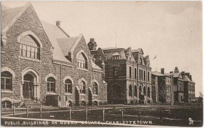 , Public Buildings on Queen Square, Charlottetown (1593), PEI Postcards