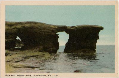 , Rock near Keppoch Beach, Charlottetown, P.E.I. (1611), PEI Postcards