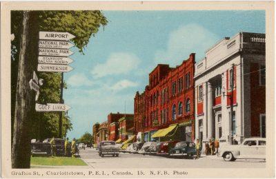 , Grafton St., Charlottetown, P.E.I., Canada. N.F.B. Photo (1612), PEI Postcards