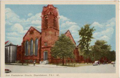 , Zion Presbyterian Church, Charlotetown, P.E.I. (1617), PEI Postcards