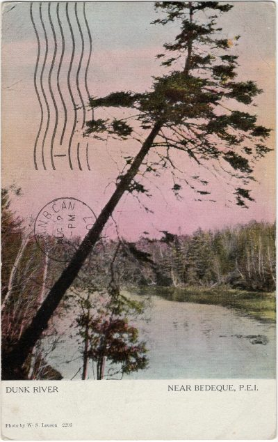, Dunk River Near Bedeque, P.E.I. (1594), PEI Postcards
