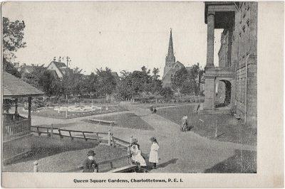 , Queen Square Gardens, Charlottetown, P.E.I. (1657), PEI Postcards