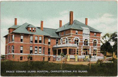 , Prince Edward Island Hospital, Charlottetown, P.E. Island. (1664), PEI Postcards