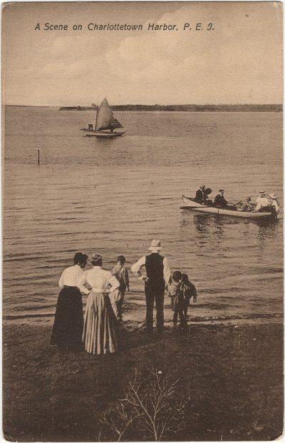 , A Scene on Charlottetown Harbor, P.E.I. (1665), PEI Postcards