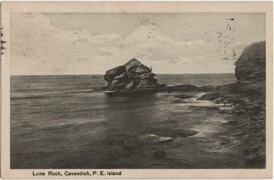 , Lone Rock, Cavendish, P.E. Island (1669), PEI Postcards