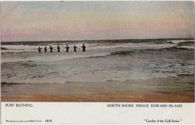 , Surf Bathing North Shore Prince Edward Island (1659), PEI Postcards