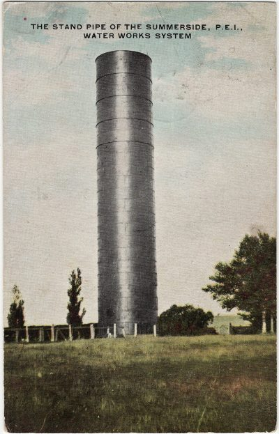 , The Stand Pipe of the Summerside, P.E.I. Water Works System (1676), PEI Postcards