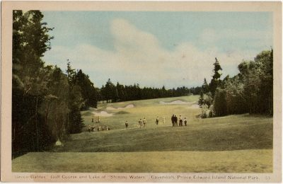""", """"Green Gables"""" Golf Course and Lake of """"Shining Waters"""", Cavendish, Prince Edward Island National     Park. (1619), PEI Postcards"""