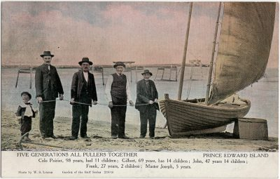 , Five Generations all Pullers Together. Prince Edward Island (1677), PEI Postcards