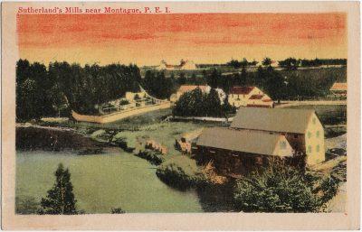 , Sutherland's Mills near Montague, P.E.I. (1680), PEI Postcards