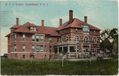 , P.E.I. Hospital, Charlottetown, P.E.I. (1681), PEI Postcards