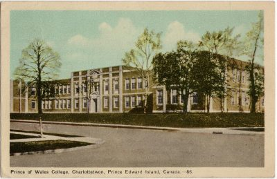 , Prince of Wales College, Charlottetwon {sp}, Prince Edward Island, Canada. (1637), PEI Postcards