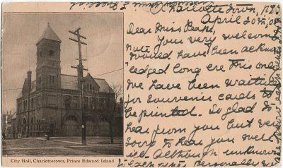 , City Hall, Charlottetown, Prince Edward Island (1645), PEI Postcards