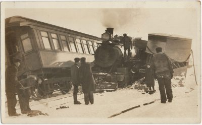 , Train wreck at O'Leary PEI. (1648), PEI Postcards