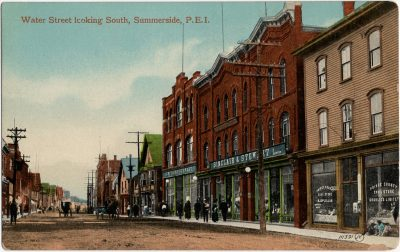 , Water Street looking South, Summerside, P.E.I. (1689), PEI Postcards
