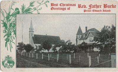 , Best Christmas Greetings of Rev. Father Burke Prince Edward Island (1694), PEI Postcards