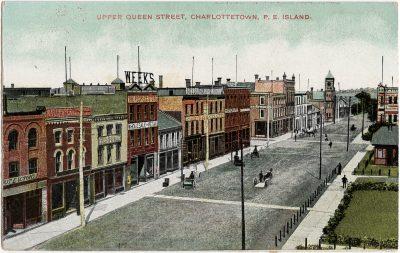 , Upper Queen Street, Charlottetown, P.E. Island. (1703), PEI Postcards