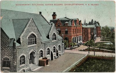 , Government Buildings, Queen Square, Charlottetown, P.E. Island (1704), PEI Postcards