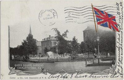 , Queen Square Gardens, Charlottetown, P.E.I. (1711), PEI Postcards