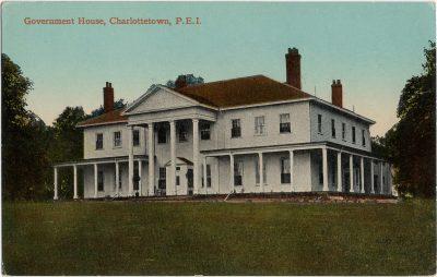 , Government House, Charlottetown, P.E.I. (1715), PEI Postcards