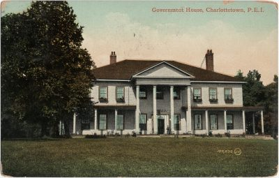 , Government House, Charlottetown, P.E.I. (1719), PEI Postcards