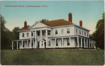 , Government House, Charlottetown, P.E.I. (1717), PEI Postcards