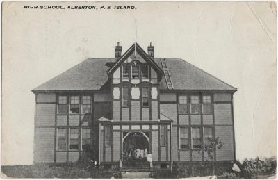 , High School, Alberton, P.E Island. (1726), PEI Postcards