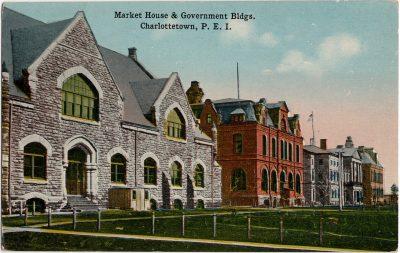 , Market House & Government Bldgs, Charlottetown, P.E.I. (1725), PEI Postcards