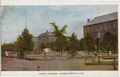 , Public Gardens, Charlottetown, P.E.I. (1729), PEI Postcards
