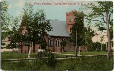 , St. Mary's Episcopal Church, Summerside, P.E.I. (1737), PEI Postcards