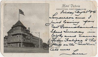 , Hotel Victoria Charlottetown, Prince Edward Island (1739), PEI Postcards
