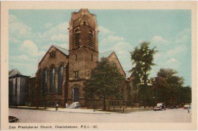 , Zion Presbyterian Church, Charlottetown, P.E.i. (1753), PEI Postcards