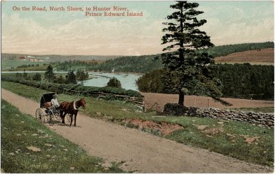 , On the Road, North Shore, to Hunter River, Prince Edward Island. (1754), PEI Postcards
