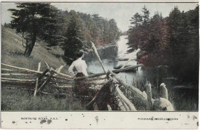 , Montrose River, P.E.I. Pleasant Recollections {probably cropped} (1759), PEI Postcards