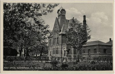, Post Office, Summerside, P.E. Island. (1763), PEI Postcards