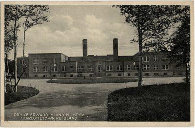 , Prince Edward Island Hospital, Charlottetown, P.E. Island. (1766), PEI Postcards