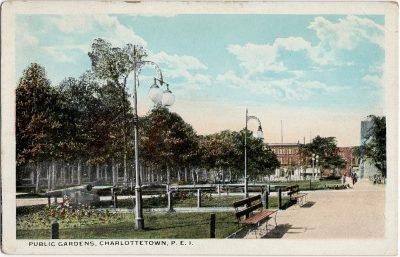 , Public Gardens, Charlottetown, P.E.I. (1771), PEI Postcards