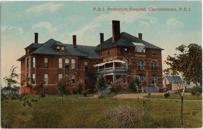 , P.E.I. Protestant Hospital, Charlottetown, P.E.I. (1774), PEI Postcards