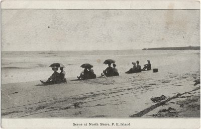 , Scene at North Shore, P.E. Island (1775), PEI Postcards