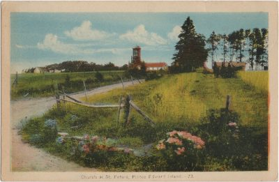 , Church at St. Peters, Prince Edward Island. (1777), PEI Postcards