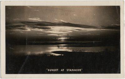 ", ""Sunset at Stanhope"" (1745), PEI Postcards"