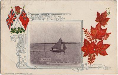 , Harbor. Alberton, Prince Edward Island. Copyrighted by Atkinson Bros 1905. (1788), PEI Postcards